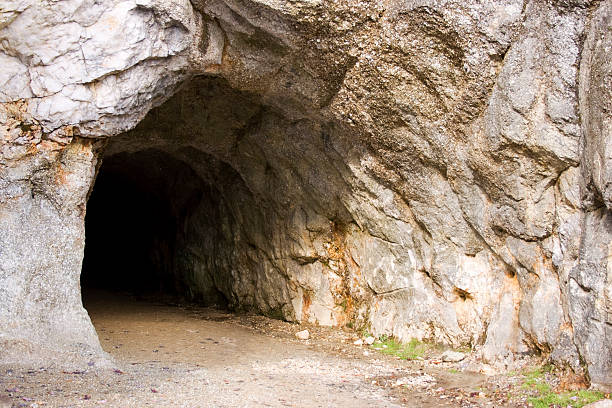 cave entrance - entrance stock photos and pictures