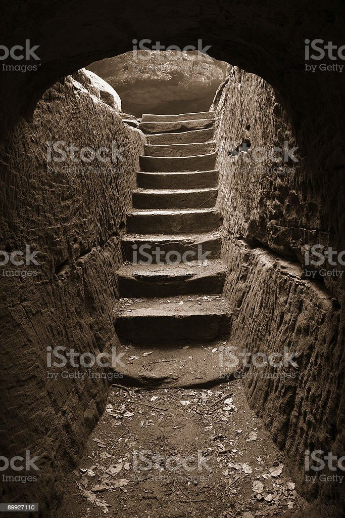Cave exit 3 royalty-free stock photo
