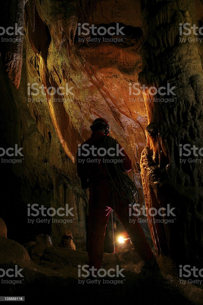 Cave explorations royalty-free stock photo