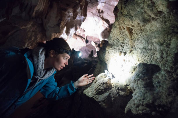 cave explorer - stalagmit bildbanksfoton och bilder