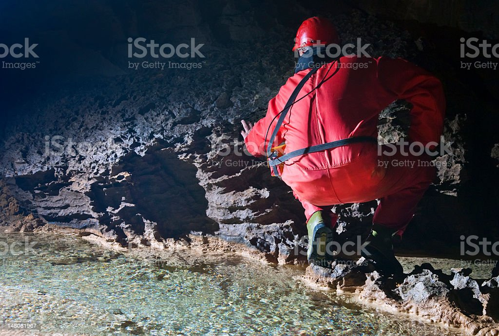Cave explorer royalty-free stock photo