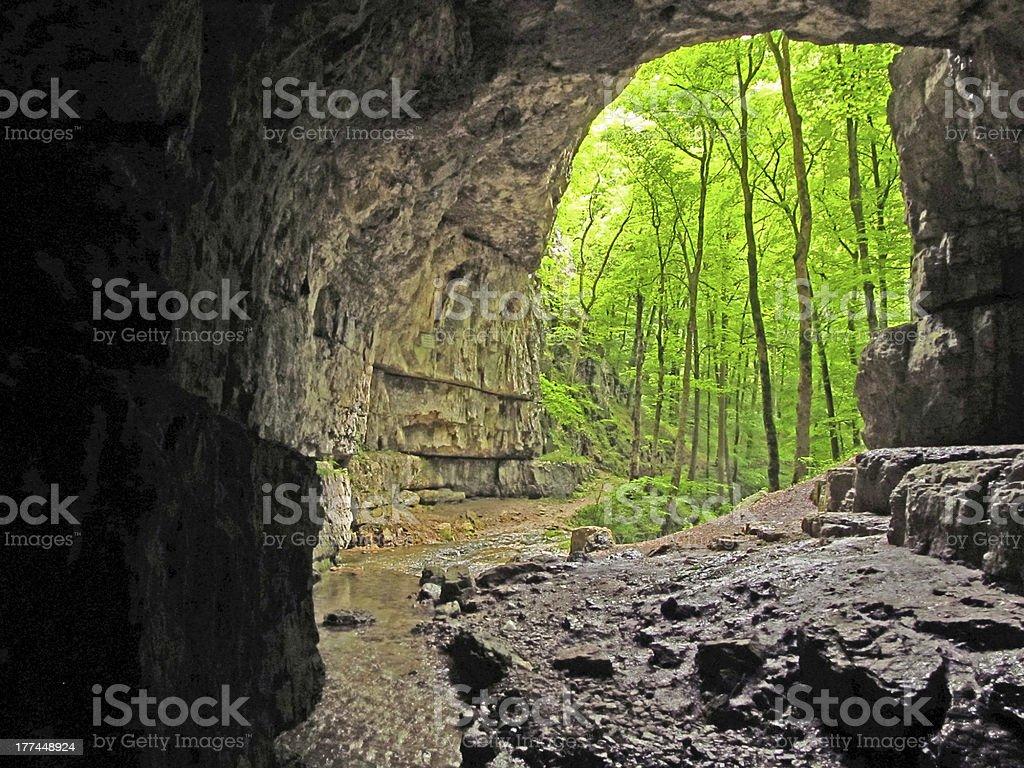Cave 'Falkensteiner', Swabian Alb, Germany royalty-free stock photo