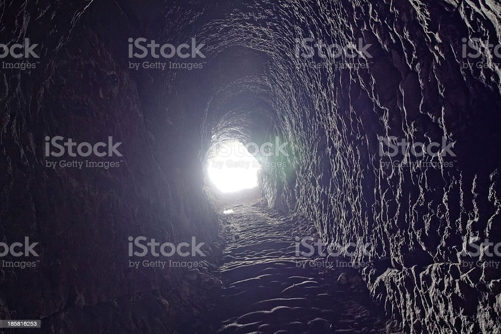 cave in the rock, towards to exit royalty-free stock photo