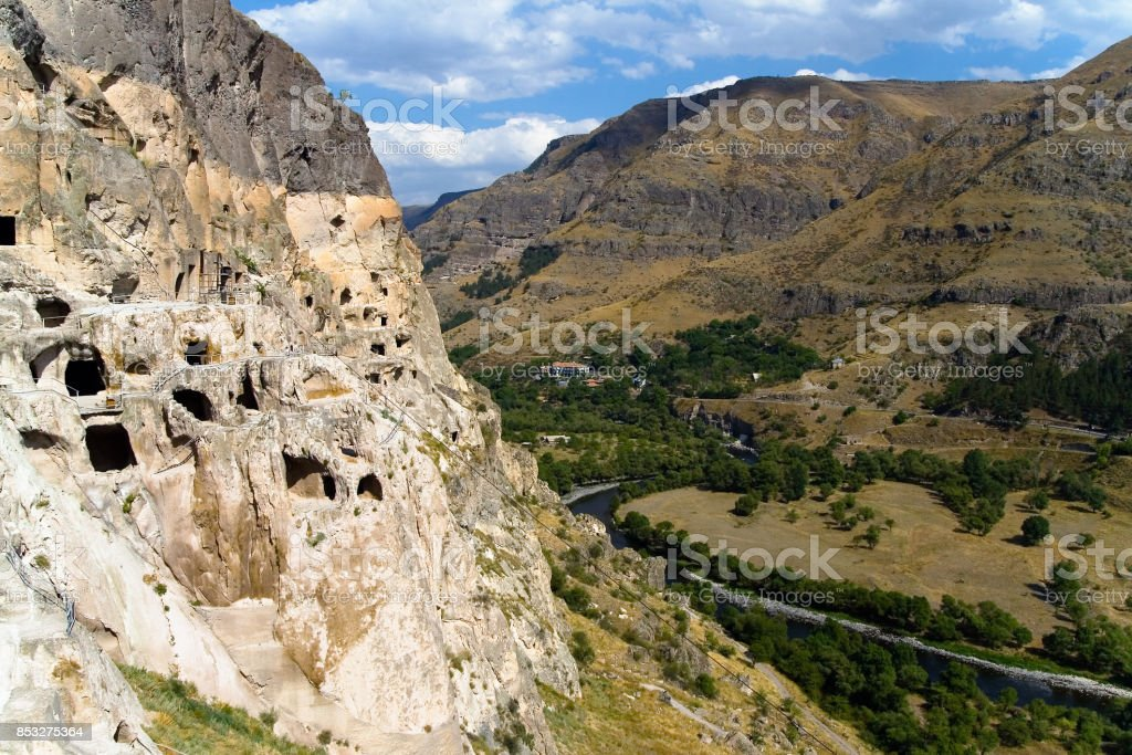 Cave monastery complex in the south of Georgia. stock photo