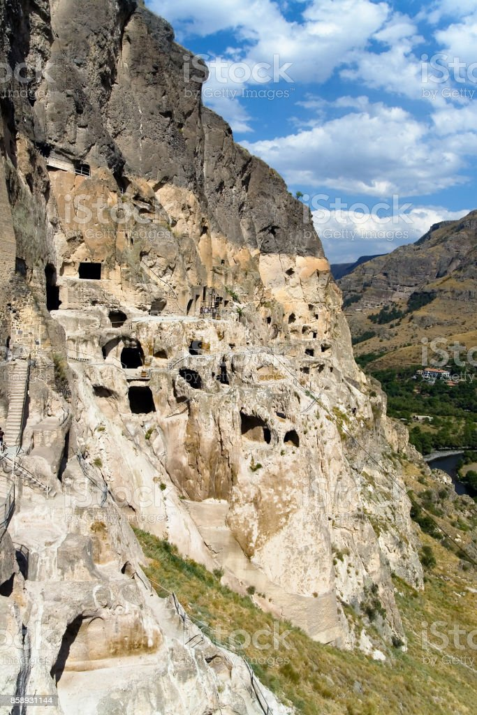 Cave monastery complex in the south of Georgia stock photo