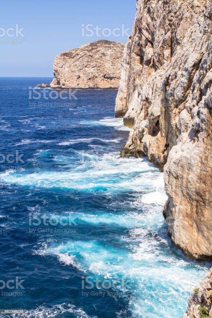 Cave Neptune in Alghero, Sardinia, Italy royalty-free stock photo
