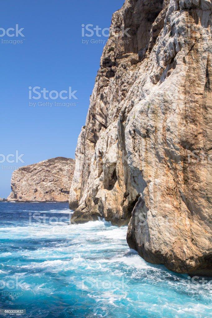 Cave Neptune in Alghero, Sardinia, Italy royalty free stockfoto