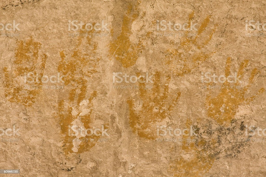 Cave of a Hundred Hands royalty-free stock photo