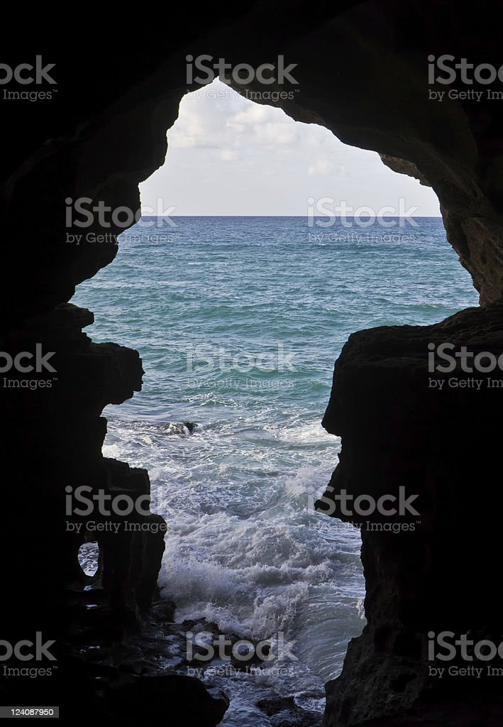 Cave of Hercules stock photo