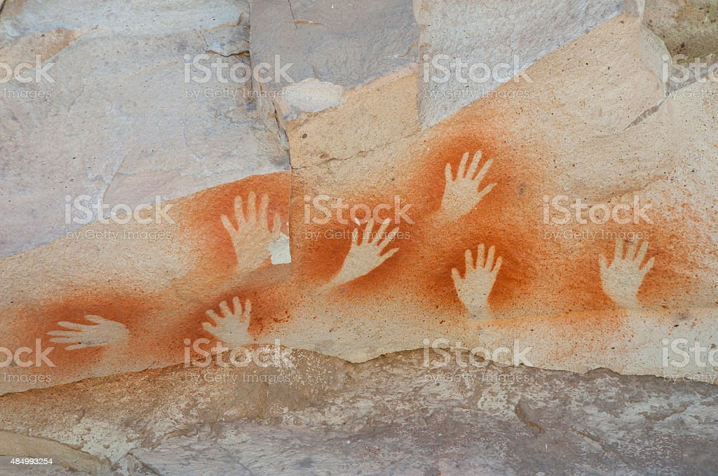 Cave of the Hands - Argentina stock photo