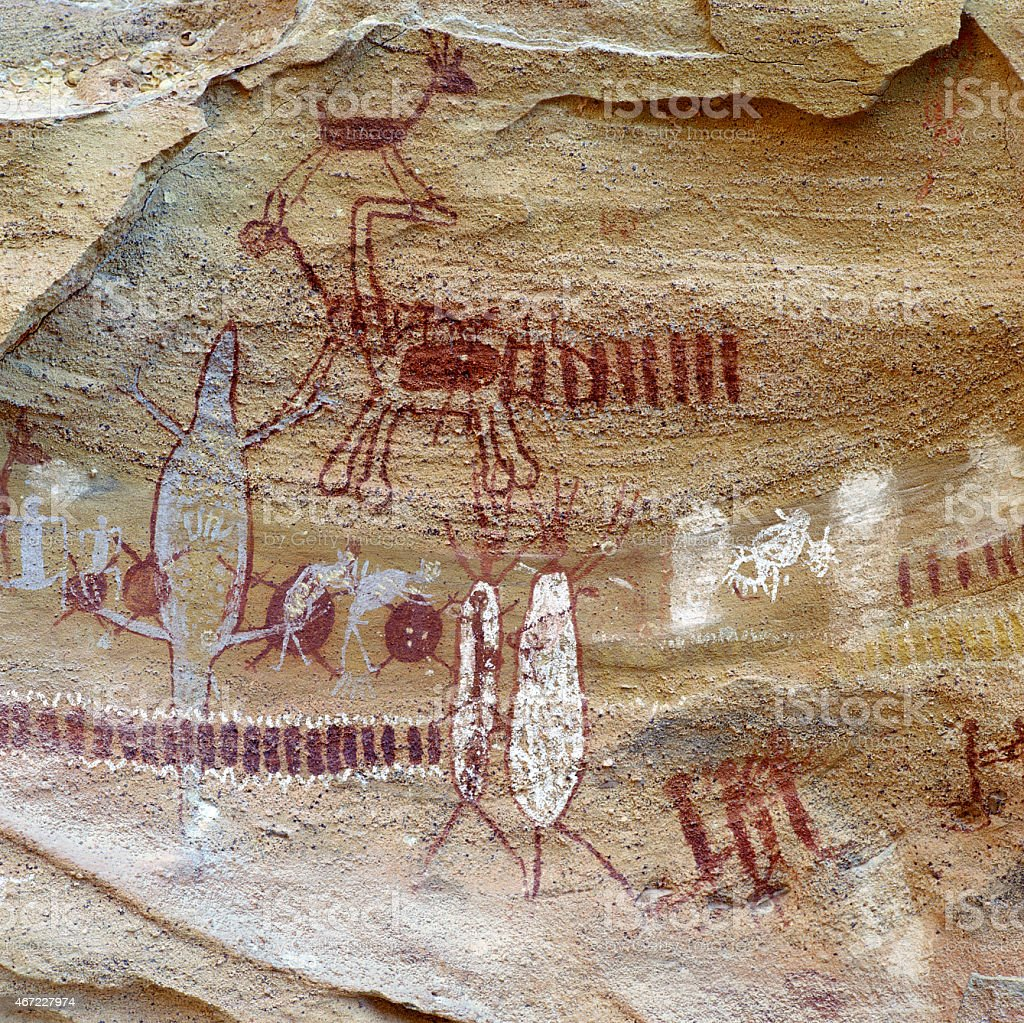 Cave painting stock photo