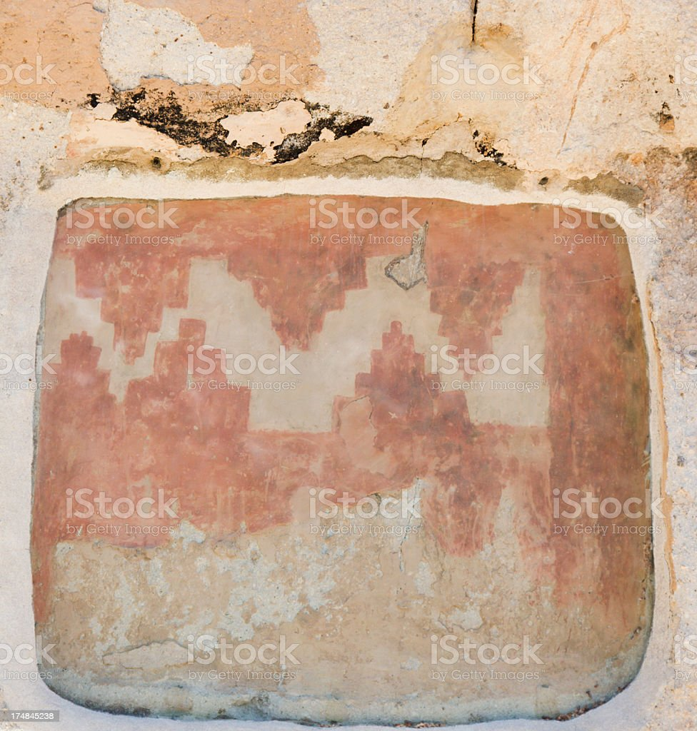 Cave Paintings - Bandelier National Monument stock photo