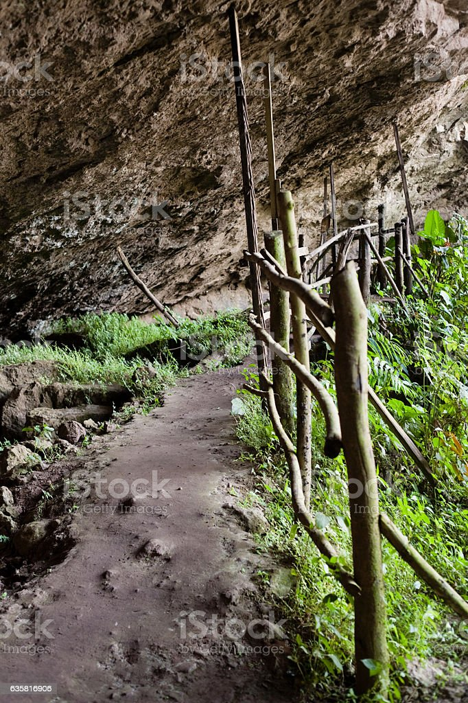 Cave Pathway in Nicaragua stock photo