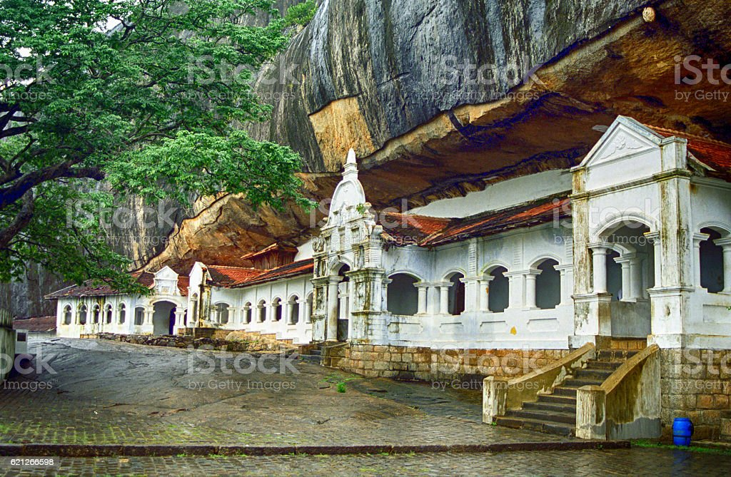 Cave temple, Dambulla, Sri Lanka stock photo