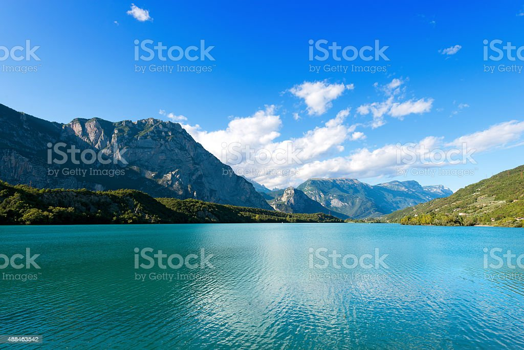 Cavedine Lake - Trentino Italy stock photo