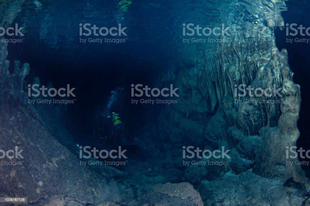 Cavediving stock photo