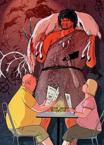 原始人のダイエット - パレオダイエット ストックフォトと画像