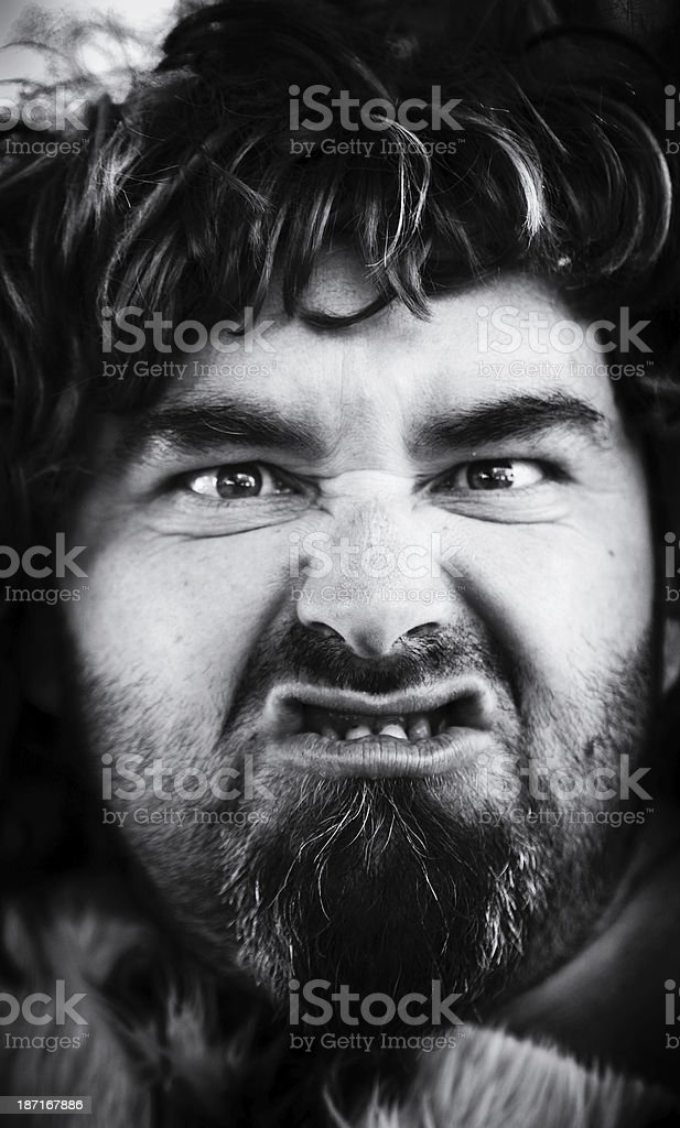 Cavemen portrait royalty-free stock photo