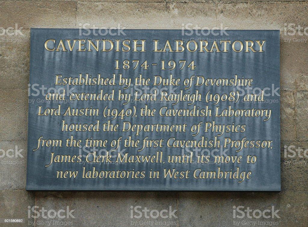 Cavendish Laboratory stock photo