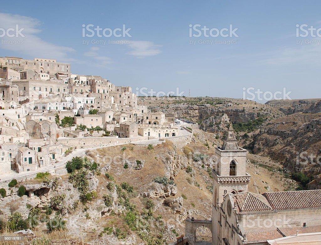 Caveoso Sassi, Matera royalty-free stock photo