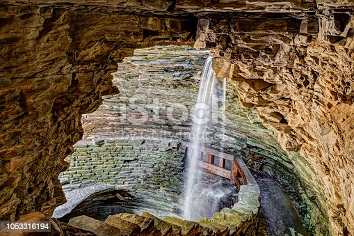 istock Cavern Cascade at Watkins Glen 1053316194