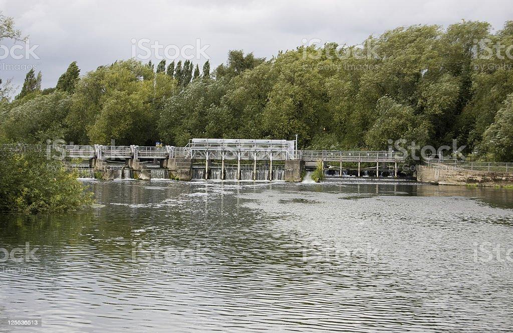 Caversham Weir, Berkshire royalty-free stock photo