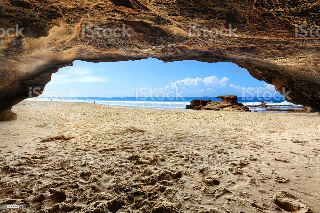 Caves Beach, NSW Australia stock photo