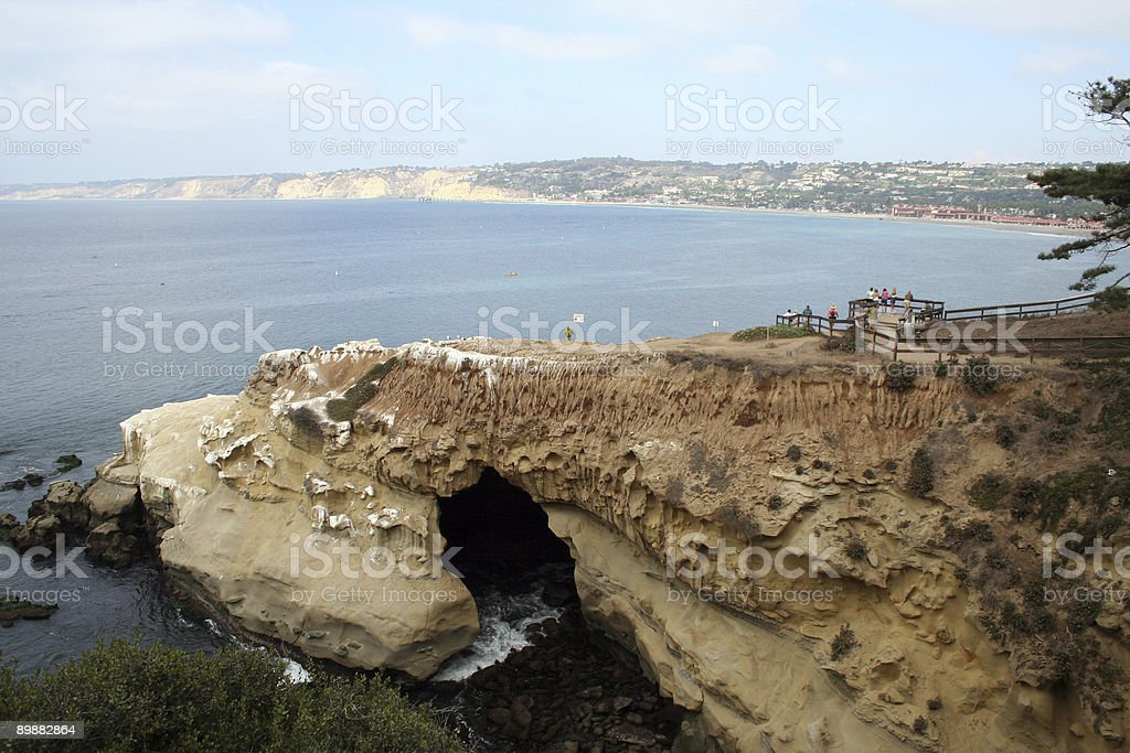 Caves in La Jolla royalty-free stock photo