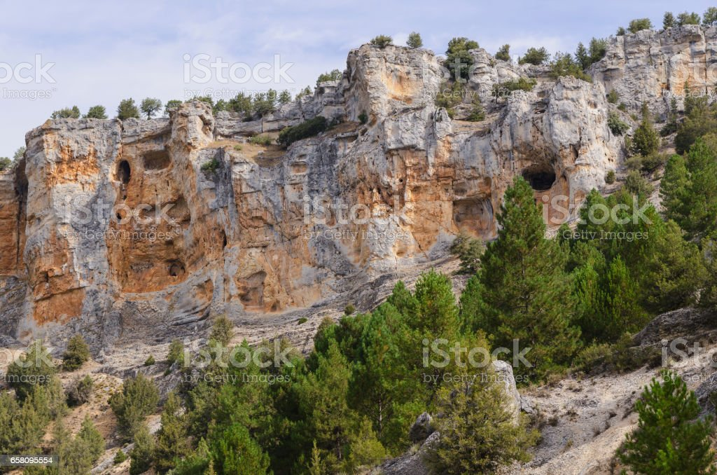 Caves in the cliffs royalty-free stock photo