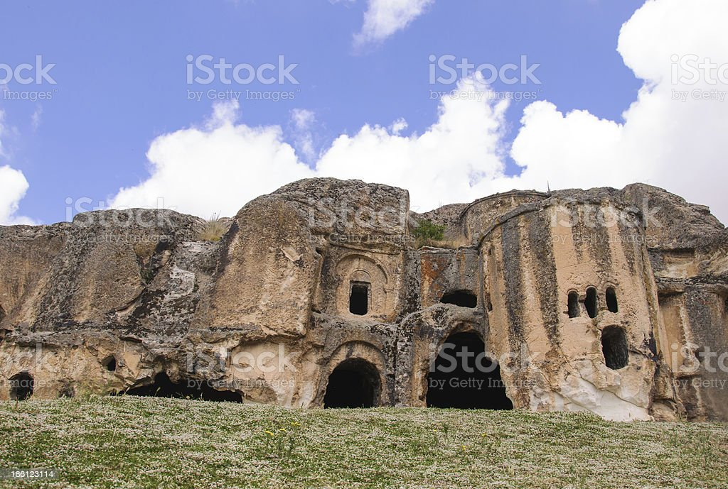 caves in Turkey royalty-free stock photo