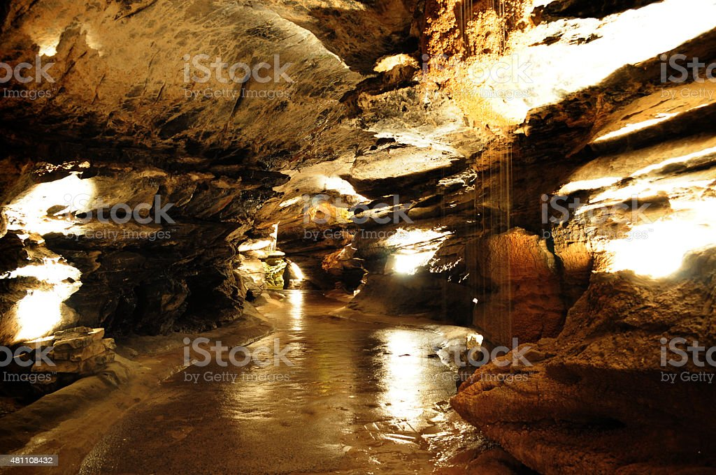 caves in Wales UK stock photo