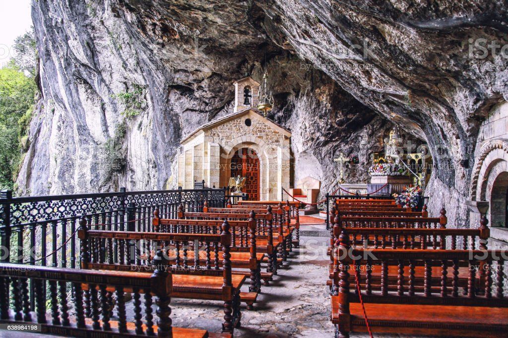 Caves of Covadonga, Asturias, Spain stock photo
