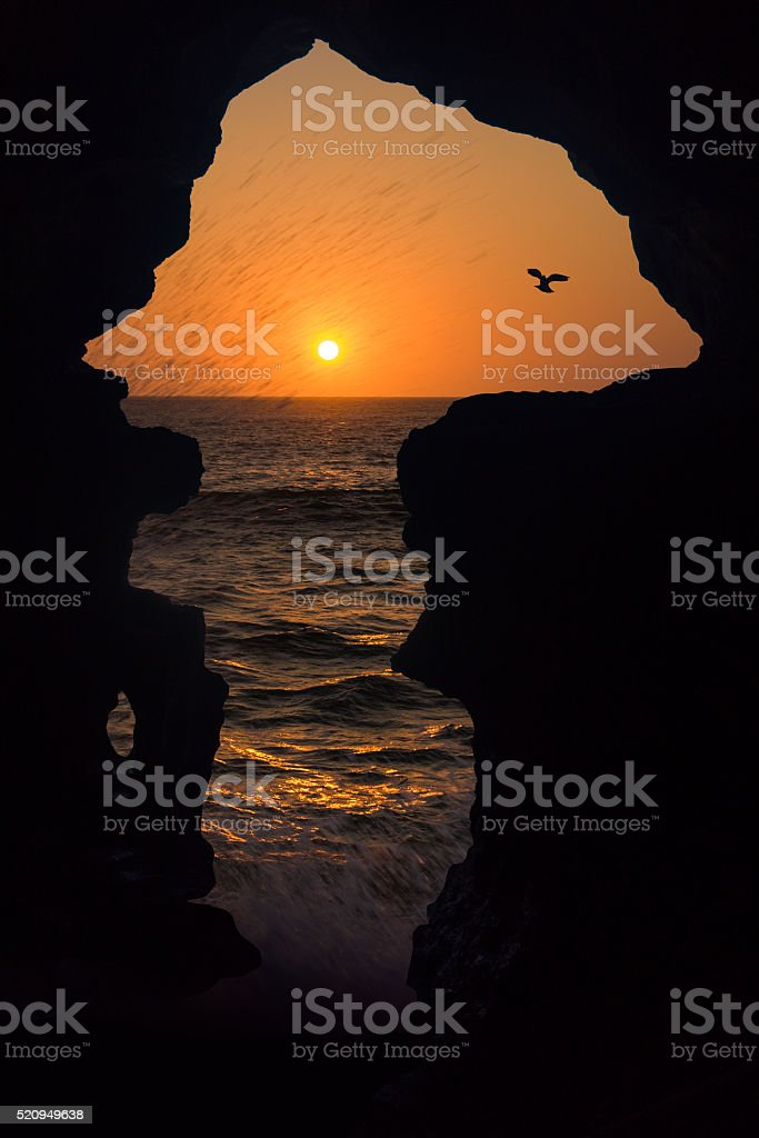 Caves of Hercules stock photo