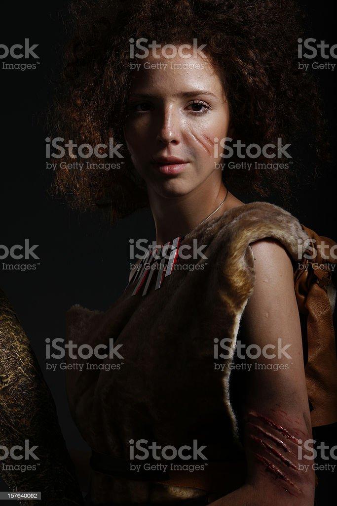 Cavewoman stock photo