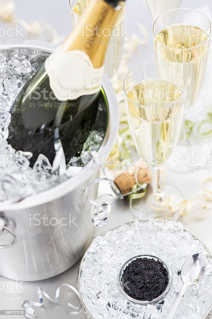 Caviar and Champagne royalty-free stock photo