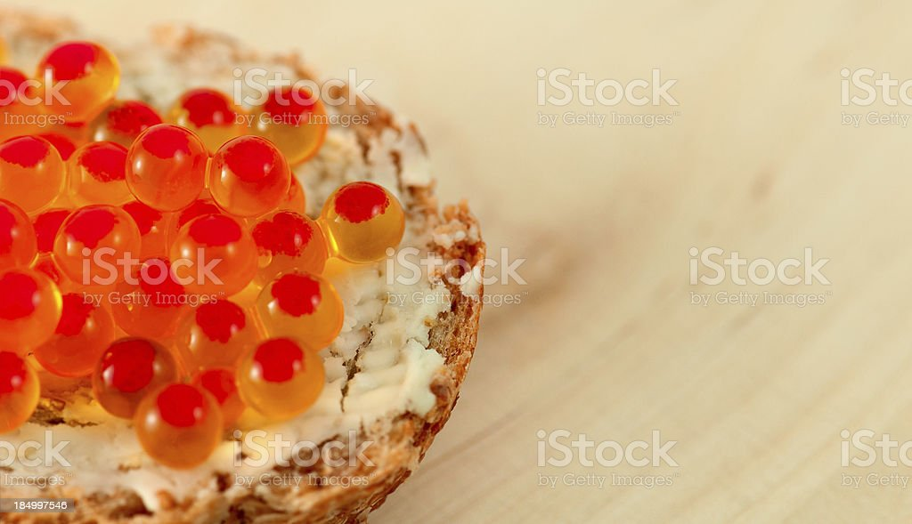 caviar canape stock photo