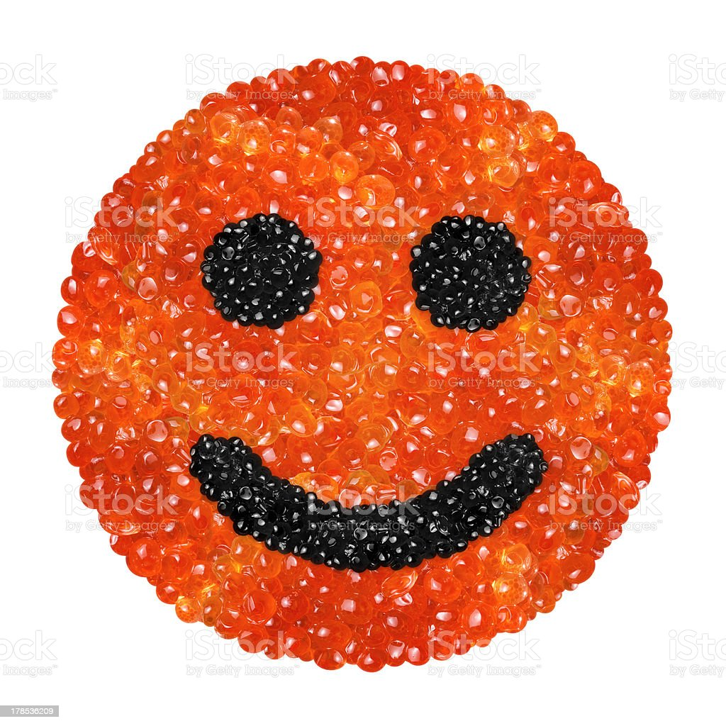 caviar in the form of a smiling face royalty-free stock photo