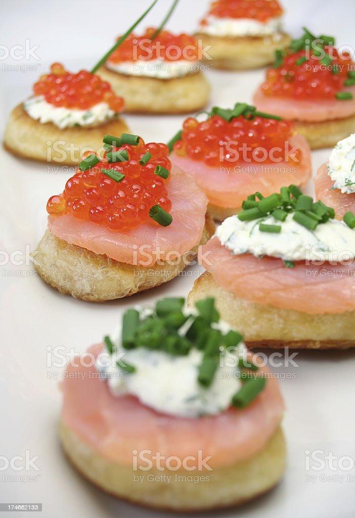 Caviar Snacks stock photo