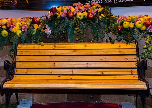 Tremendous Apples On Decorative Garden Bench Free Photo On Barnimages Dailytribune Chair Design For Home Dailytribuneorg