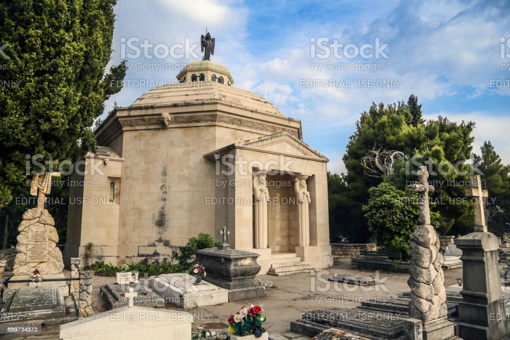 Cavtat cemetary stock photo