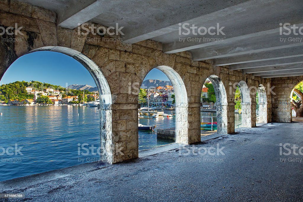 Cavtat in Croatia stock photo