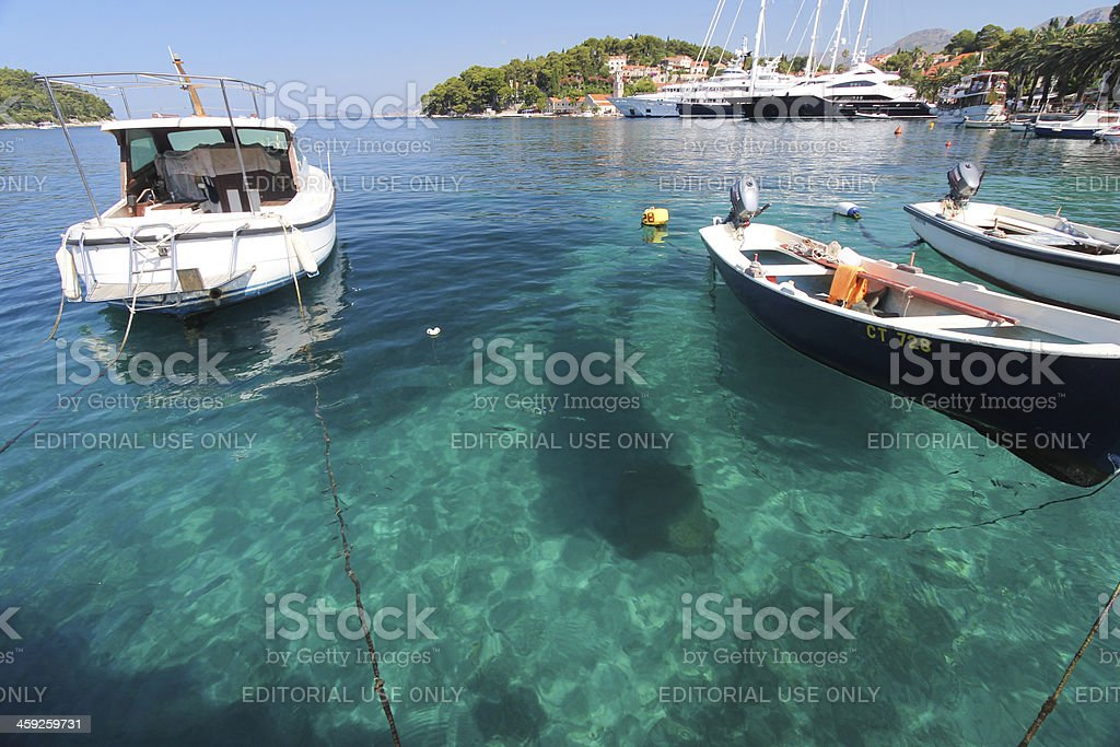 Cavtat in Dalmatia, Croatia stock photo