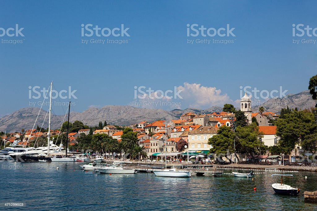 Cavtat old town - Croatia stock photo