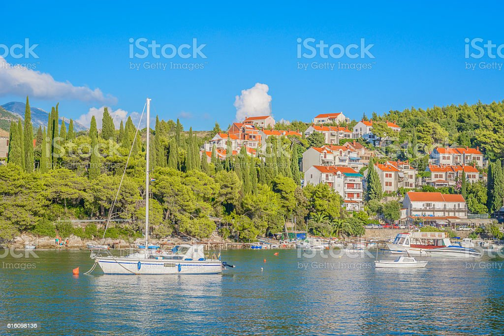 Cavtat scenic view Croatia. stock photo