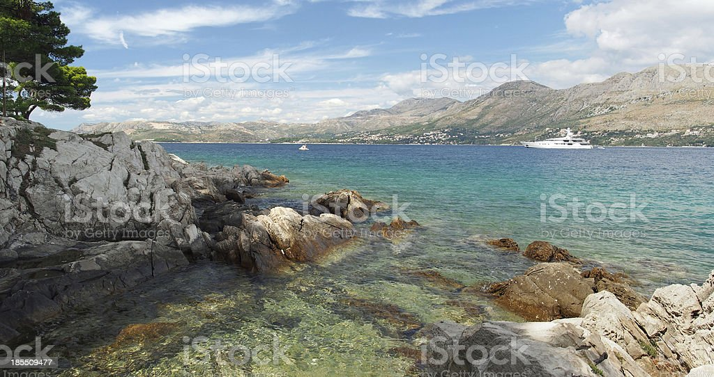 Cavtat shore, Croatia stock photo