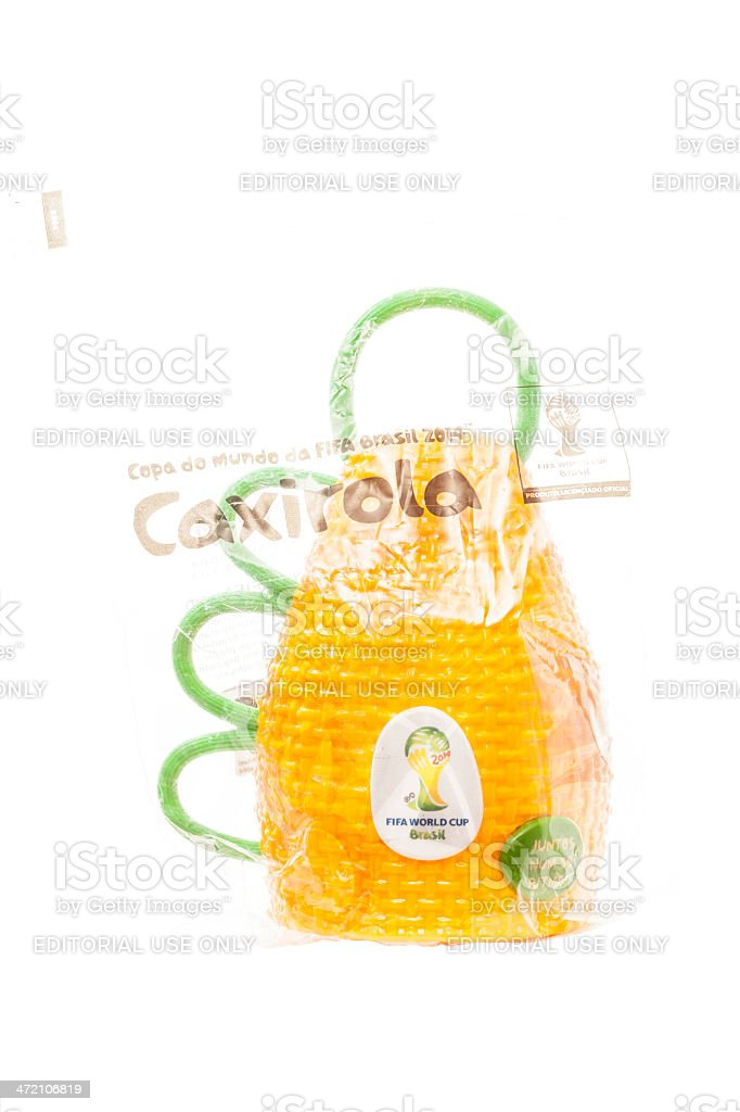 Caxirola in bag stock photo