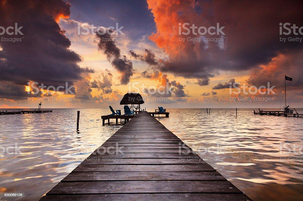 Caye Caulker Belize stock photo