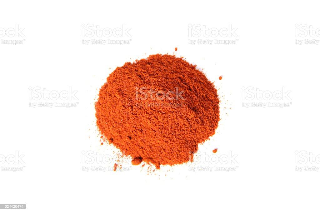 Cayenne pepper powder stock photo