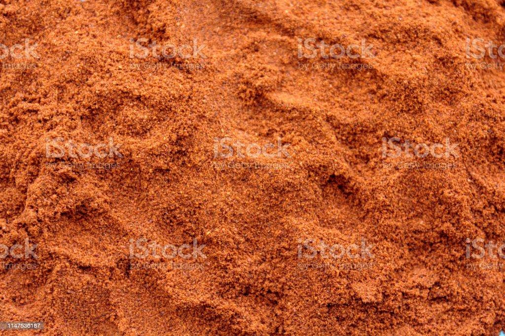 Cayenne pepper powder texture background pattern