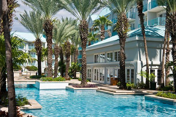 Cayman Island Resort stock photo